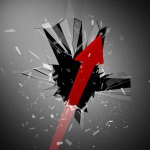 窓を突き破る矢印